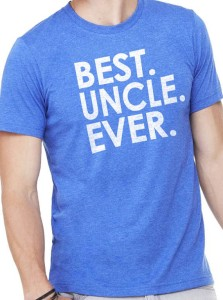 Best Uncle Ever Tee by Ebollo